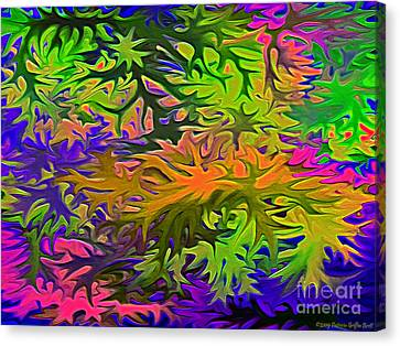Technicolor Leaves Canvas Print by Patricia Griffin Brett