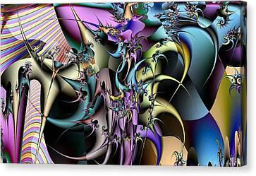 Tendrils Canvas Print - Technicolortendrils by Ron Bissett