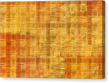 Abstract Printed Circuit Board Canvas Print by Michal Boubin
