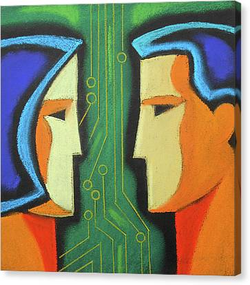 Technology And Intelligence Canvas Print by Leon Zernitsky