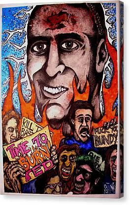 Ted Bundys Last Smile Canvas Print by Sam Hane
