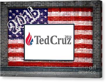 Ted Cruz For President Canvas Print by Antony McAulay