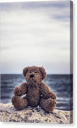 Teddy Bear At The Sea Canvas Print by Joana Kruse