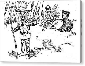 Teddy Bear Cartoon, 1902 Canvas Print by Granger