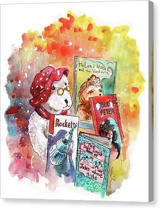 Teddy Bear In Great Ayton Canvas Print by Miki De Goodaboom
