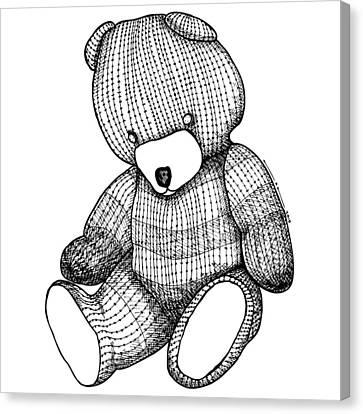 Teddy Bear Canvas Print by Karl Addison