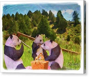 Teddy Bear Picnic Canvas Print