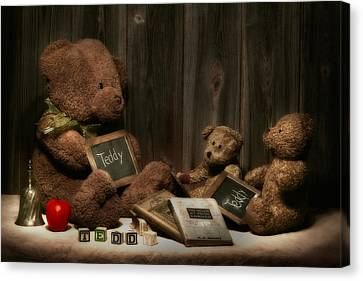 Teddy Bear School Canvas Print by Tom Mc Nemar