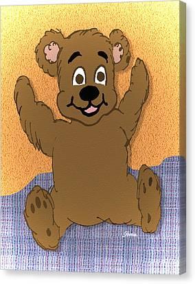 Teddy's First Portrait Canvas Print