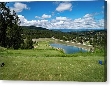 Canvas Print featuring the photograph Tee Box With As View by Darcy Michaelchuk