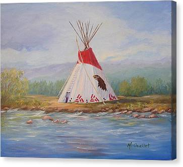 Tee Pee Canvas Print by Maxine Ouellet