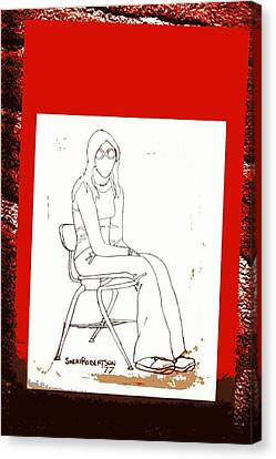 Rack Canvas Print - Teen Girl In School Chair by Sheri Buchheit