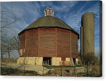 Teeple Barn, Built Circa 1885 By Dairy Canvas Print by Ira Block