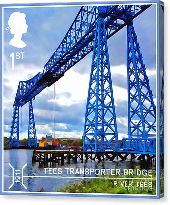 Travel Canvas Print - Tees Transporter Bridge by Lanjee Chee