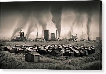 Teesside Steelworks 1 Canvas Print by Dave Bowman