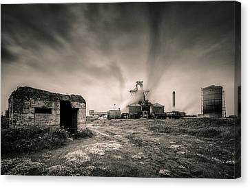 Teesside Steelworks 2 Canvas Print by Dave Bowman