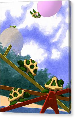 Teeter Canvas Print by Tom Dickson
