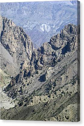Teeth Of The Mountains Afghanistan Canvas Print by David M Porter