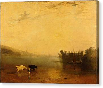 Teignmouth Harbour Canvas Print by Joseph Mallord William Turner