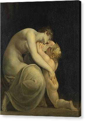 Tekemessa And Eurysakes Canvas Print by Henry Fuseli