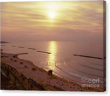 Tel Aviv Beach Morning Canvas Print by Gail Kent