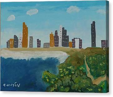 Tel Aviv Coastline Canvas Print by Harris Gulko