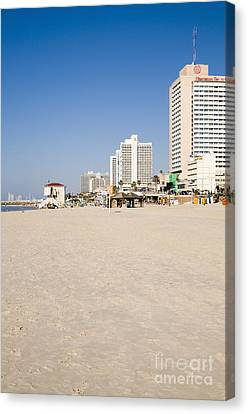 Tel Aviv Coastline Canvas Print by Ilan Rosen