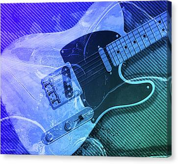 Tele Blue Canvas Print by WB Johnston