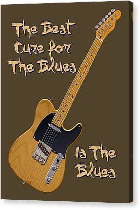 Tele Blues Cure Canvas Print