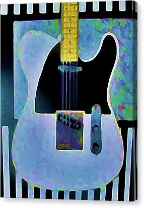 Tele  With Stripes Canvas Print by Gregory McLaughlin