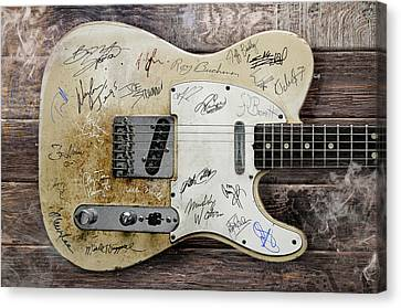 Telecaster Guitar Fantasy Canvas Print by Mal Bray