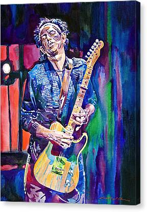 Rolling Stones Canvas Print - Telecaster- Keith Richards by David Lloyd Glover