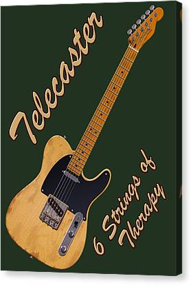 Telecaster Therapy T-shirt Canvas Print