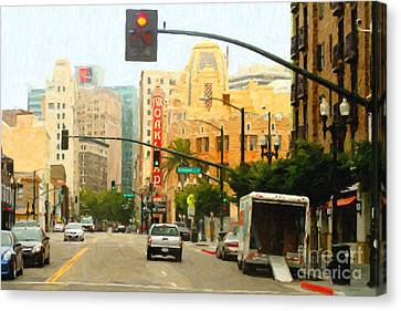 Telegraph Avenue In Oakland California Canvas Print by Wingsdomain Art and Photography