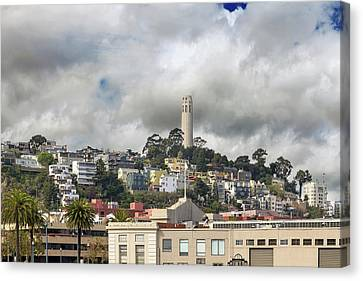 Canvas Print - Telegraph Hill Neighborhood Homes In San Francisco by David Gn