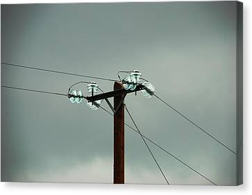 Telegraph Lines Canvas Print by Charlie and Norma Brock