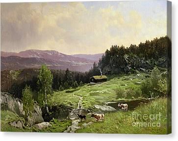 Telemark South Norway Canvas Print by Ludvig Skramstad