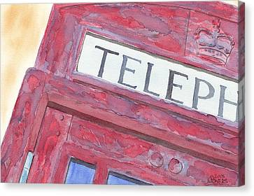 Telephone Booth Canvas Print by Ken Powers