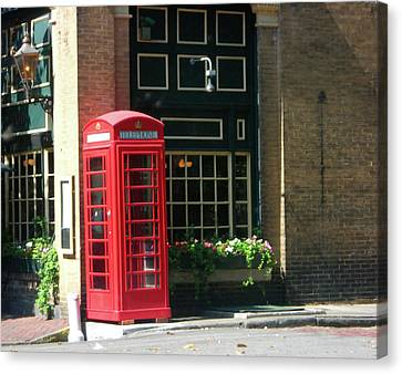 Canvas Print featuring the pastel Telephone Booth by Michael McKenzie