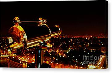 Telescope Canvas Print by Louise Fahy