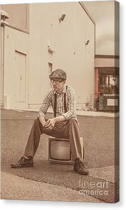 Sombre Canvas Print - Television Is Broken by Jorgo Photography - Wall Art Gallery