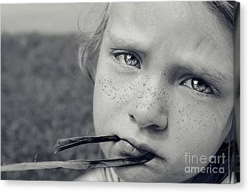 Tell Me What's Wrong Canvas Print by Aimelle