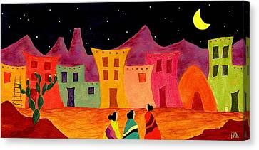 Pueblo Canvas Print - Telling Secrets by John Blake
