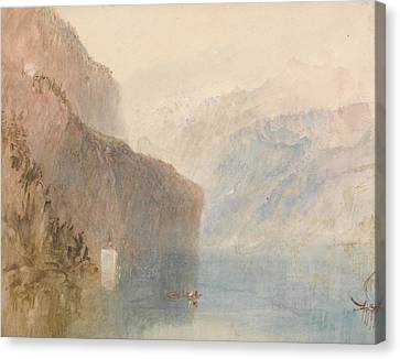 Tell's Chapel Lake Lucerne Canvas Print by Joseph Mallord William Turner