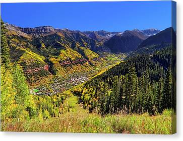 Canvas Print featuring the photograph Telluride In Autumn - Colorful Colorado - Landscape by Jason Politte