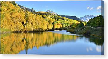 Canvas Print featuring the photograph Telluride Mountain Lake by Ray Mathis