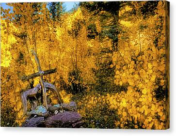 Canvas Print featuring the photograph Telluride Spirituality - Colorado - Autumn Aspens by Jason Politte