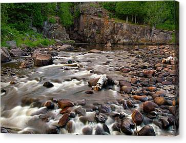 Temperance River Canvas Print by Steve Stuller