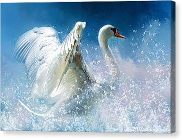Business Beauties Canvas Print - Tempestuous Beauty by Georgiana Romanovna