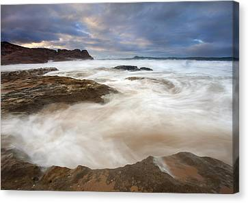 Tempestuous Sea Canvas Print by Mike  Dawson